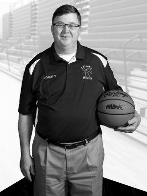 Photo illustration by NEIL BLAKE | nblake@mdn.net Calvary Baptist head coach John VanHolstyn